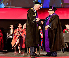 Sheikh Mohamed Bin Issa Al Jaber receives his Honorary Fellowship of UCL